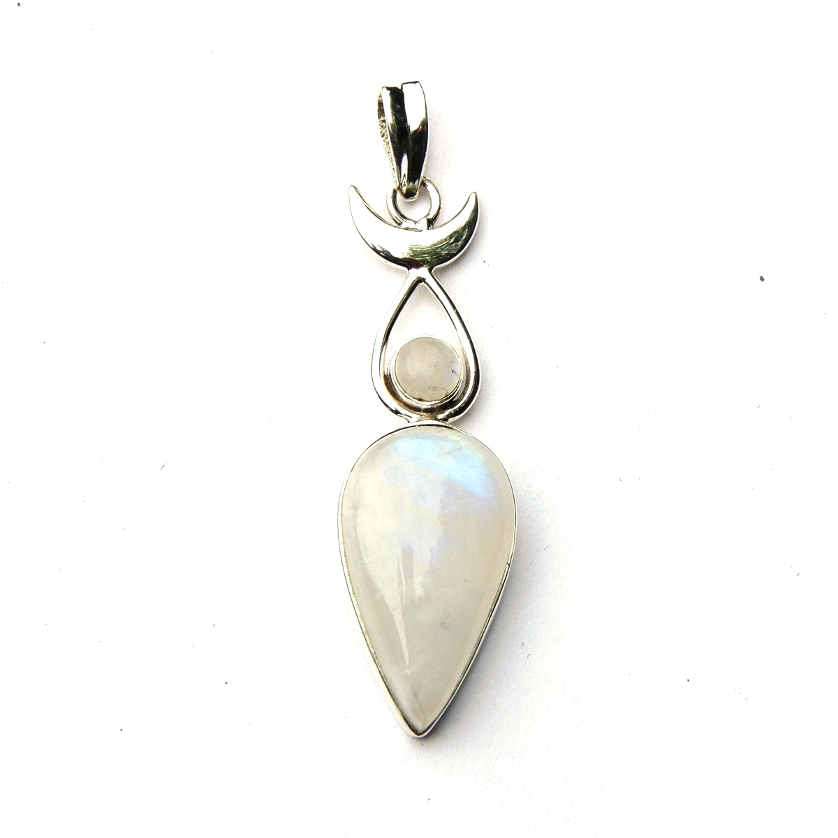 moonstone moon goddess pendant silver jewellery cavern