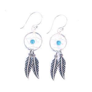 Dainty Dreamcatcher Earrings.