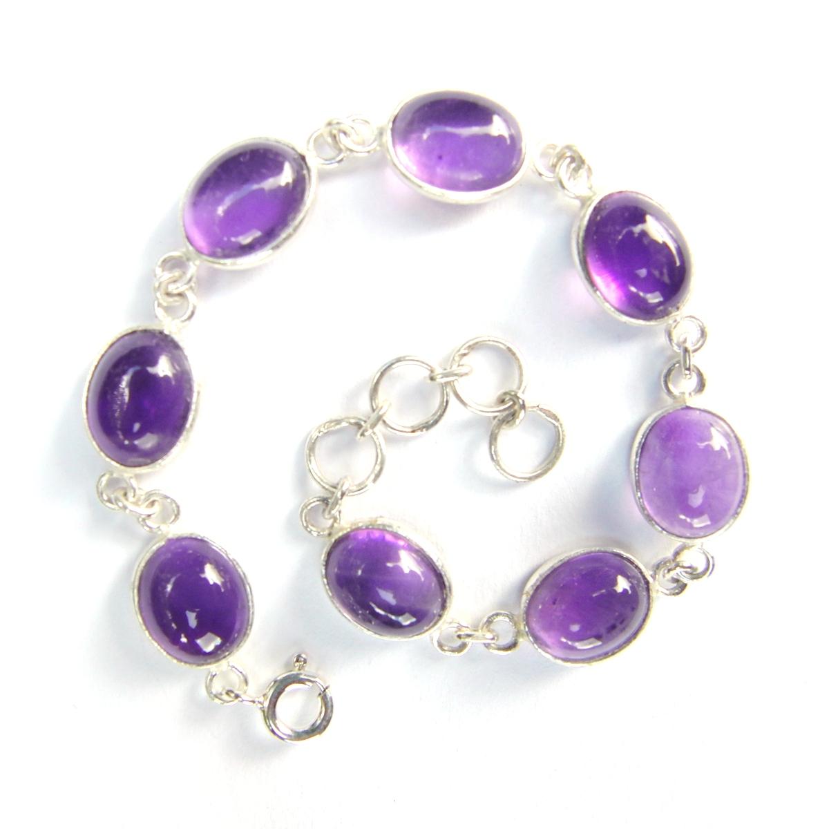 Amethyst Oval Bracelet.