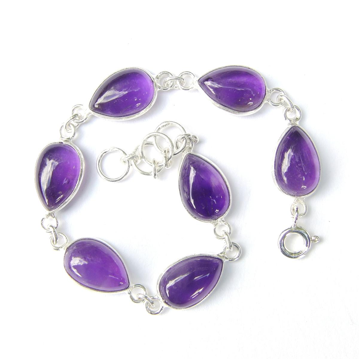 Amethyst Large Teardrop Bracelet.