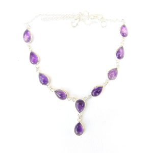 Amethyst Large Teardrop Necklace