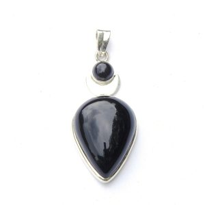 Black Onyx Goddess Pendant