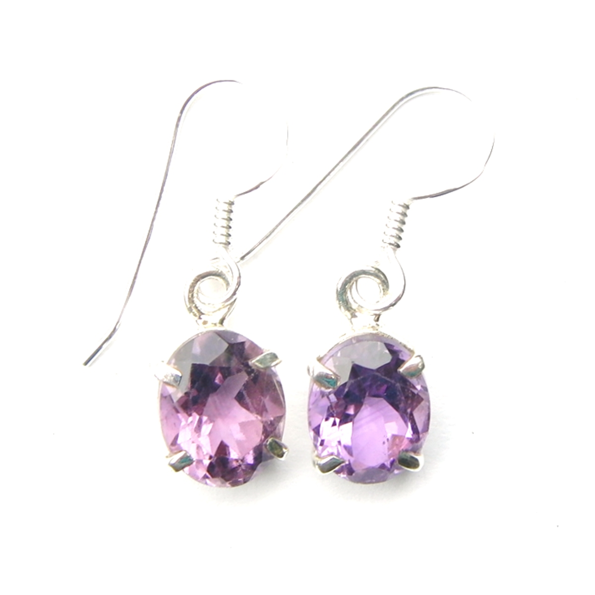 Pretty Amethyst Oval Earrings.