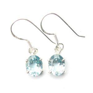 Blue Topaz Oval Earrings