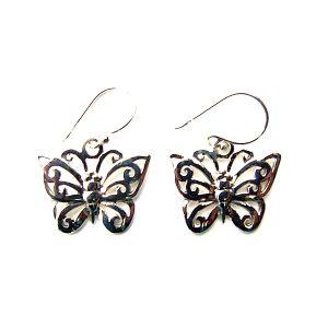 Lovely Large Butterfly Earrings.