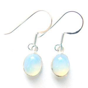 Opalite Dainty Oval Earrings