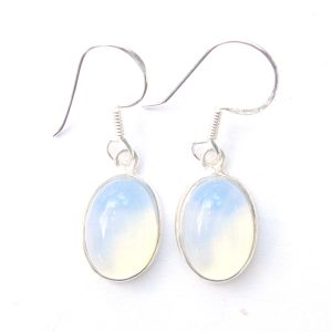 Opalite Large Oval Earrings