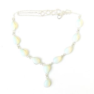 Opalite Large Teardrop Necklace.