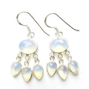 Opalite Triple Drop Earrings
