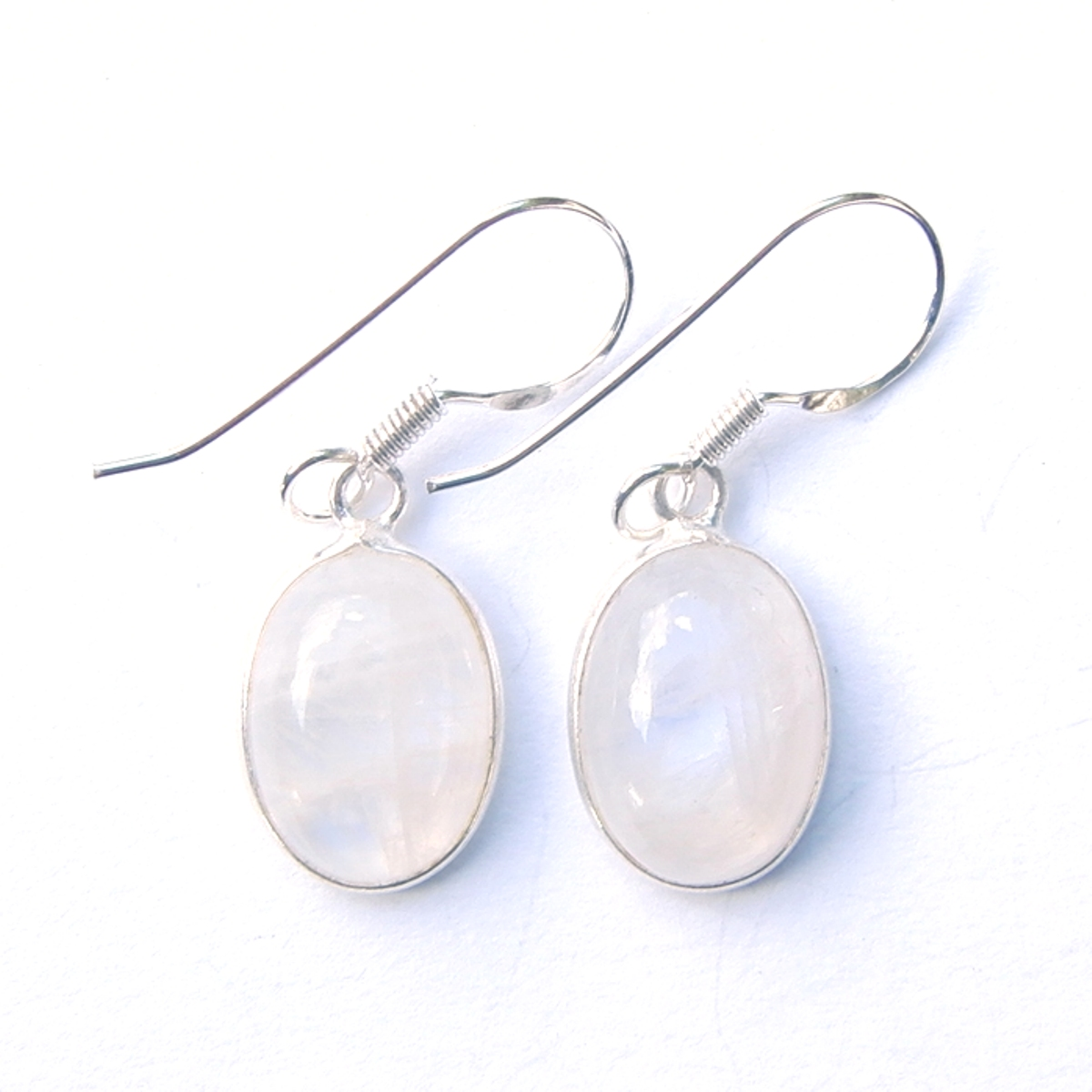 Moonstone Large Oval Earrings