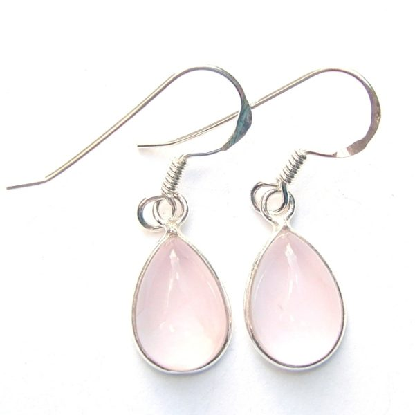 29fa05560 Rose Quartz Teardrop Earrings - Silver Jewellery Cavern Wholesale