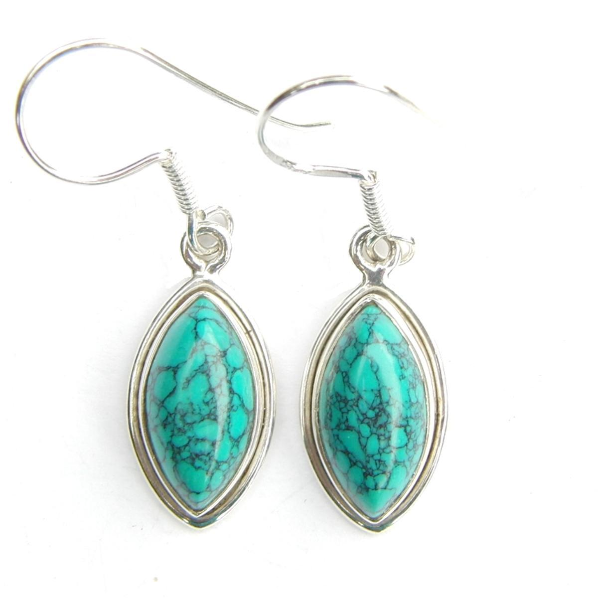 Turquoise Marquise Earrings