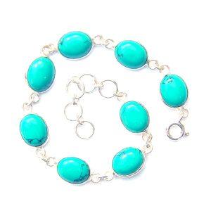 Turquoise Large Oval Bracelet.