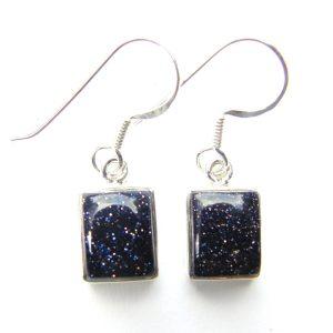 Pretty Blue Goldstone Earrings