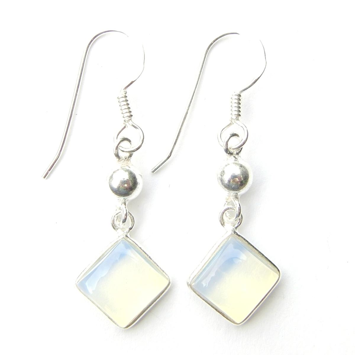 Opalite Diamond Hanging Earrings