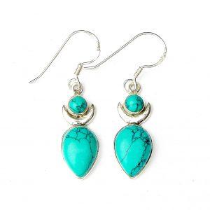 Turquoise Large Goddess Earrings.