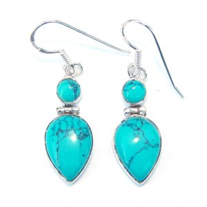 Large Turquoise Goddess Earrings