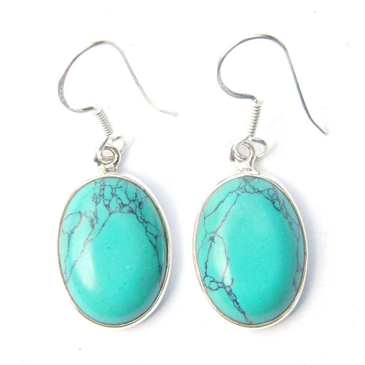 Turquoise Large Cab Earrings