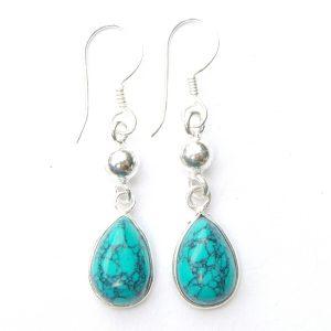 Turquoise Dangling Earrings.