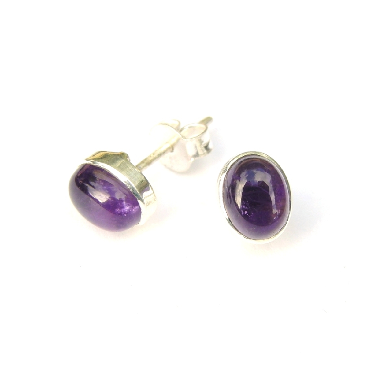 Amethyst Small Oval Studs