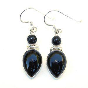 SALE Black Onyx Large Goddess Earrings