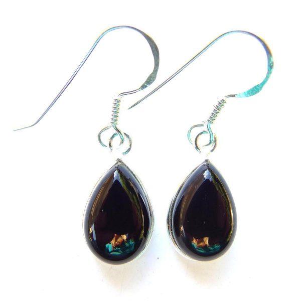 367a7cf5a Black Onyx Teardrop Earrings - Silver Jewellery Cavern Wholesale