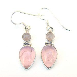 Rose Quartz Goddess Earrings