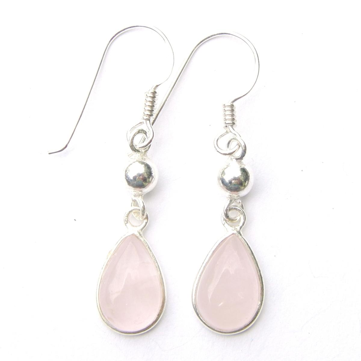 Rose Quartz Dangling Earrings