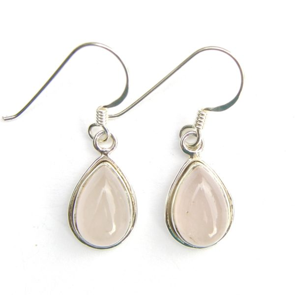 8c5b567a3 Rose Quartz Med Teardrop Earrings - Silver Jewellery Cavern Wholesale
