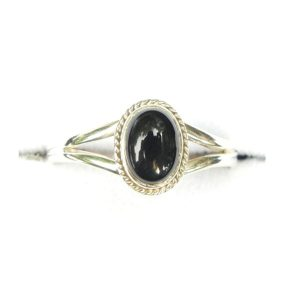 Black Onyx Dainty Ring.