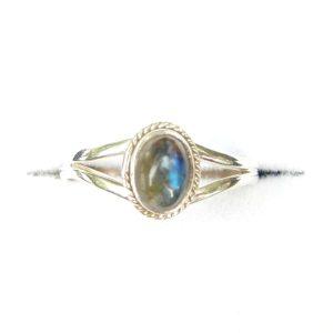 Labradorite Dainty Ring.