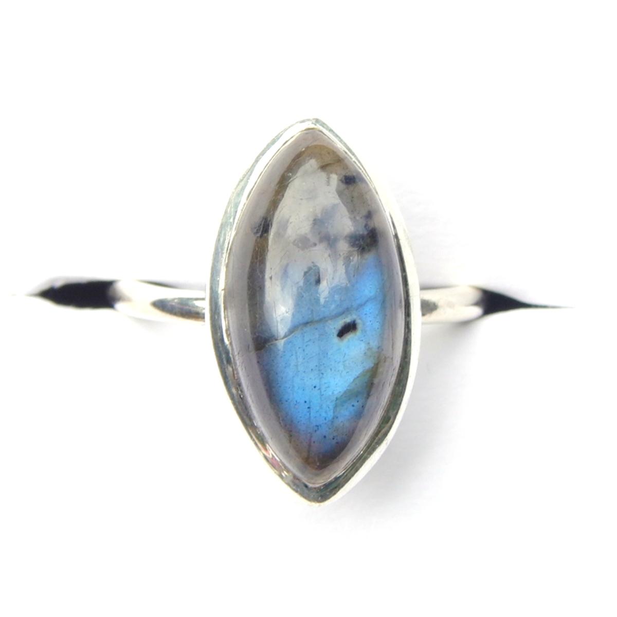 Labradorite Marquise Ring.