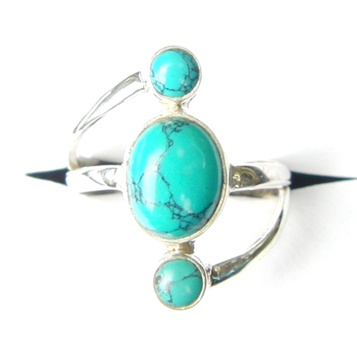 Turquoise Triple Drop Ring.
