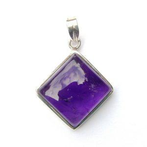 Amethyst Diamond Pendant.