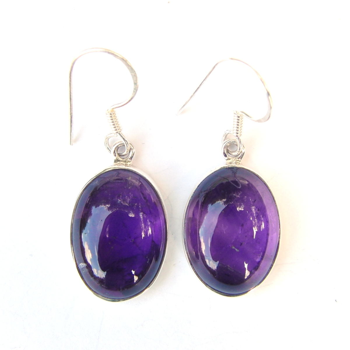 Amethyst Large Cab Earrings.