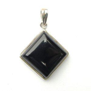 Black Onyx Diamond Pendant.