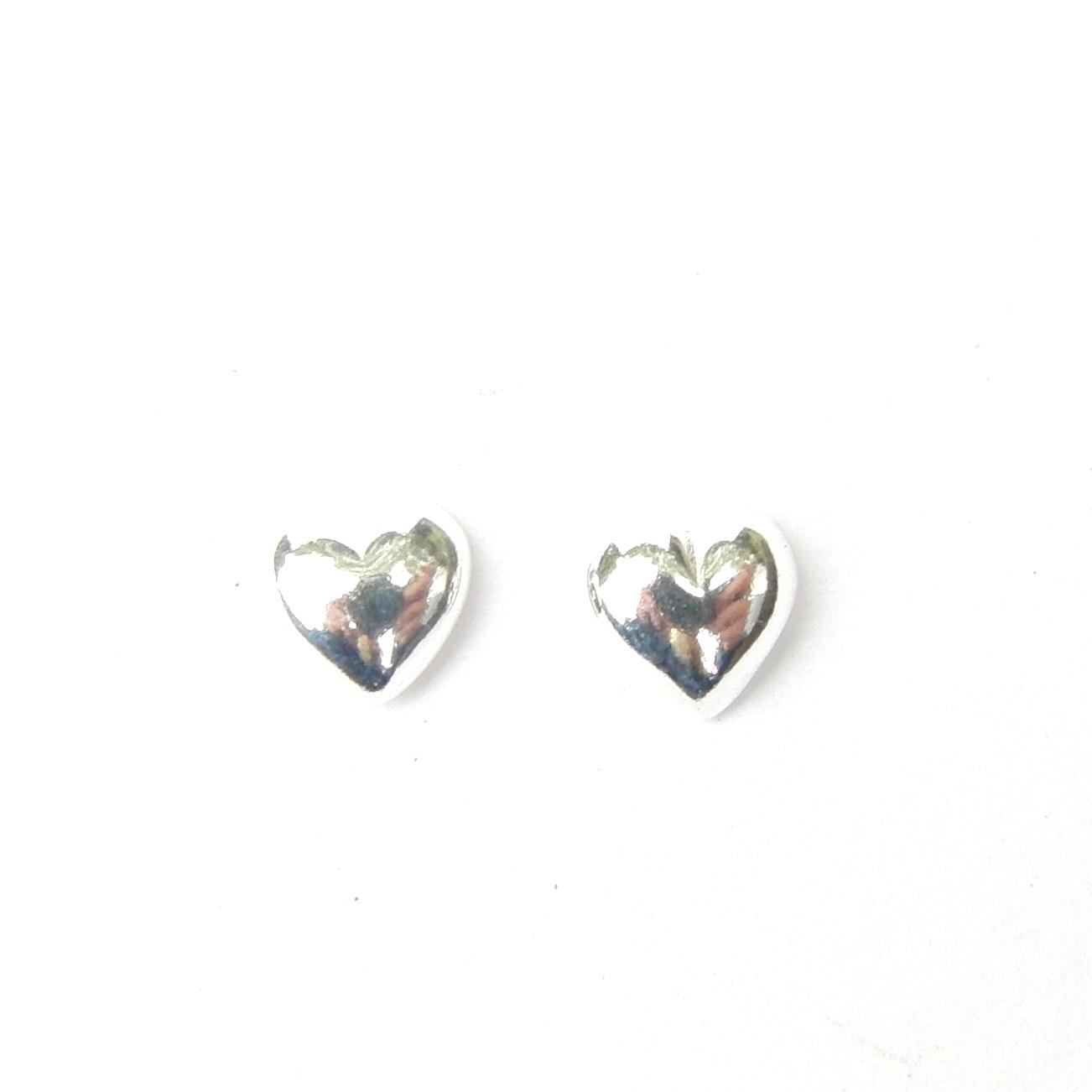 Sterling Silver Heart Studs.