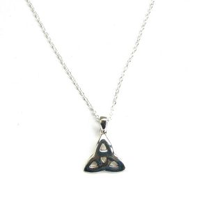 Dainty Goddess Triquetra Necklace.