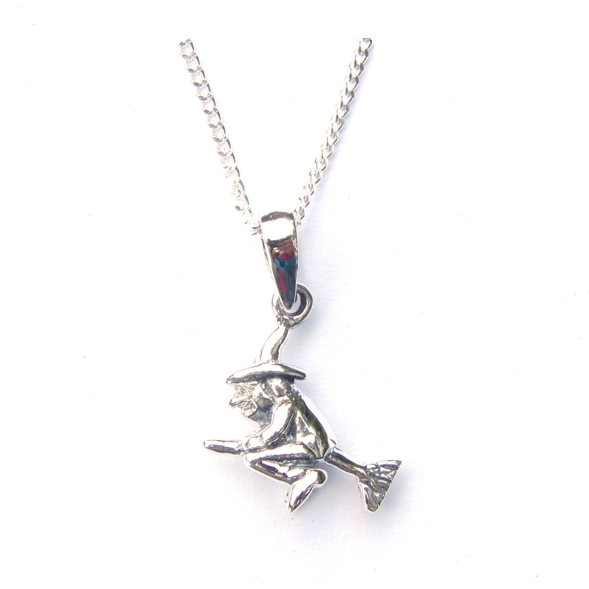 Flying witch necklace silver jewellery cavern wholesale flying witch necklace aloadofball Gallery