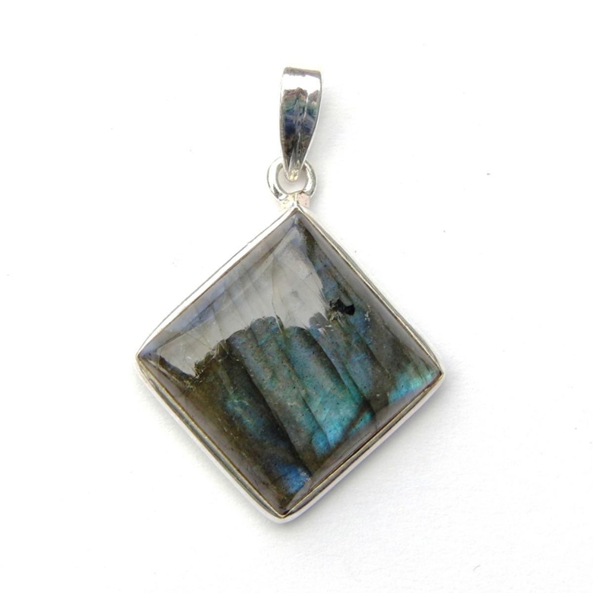Labradorite Diamond Pendant.