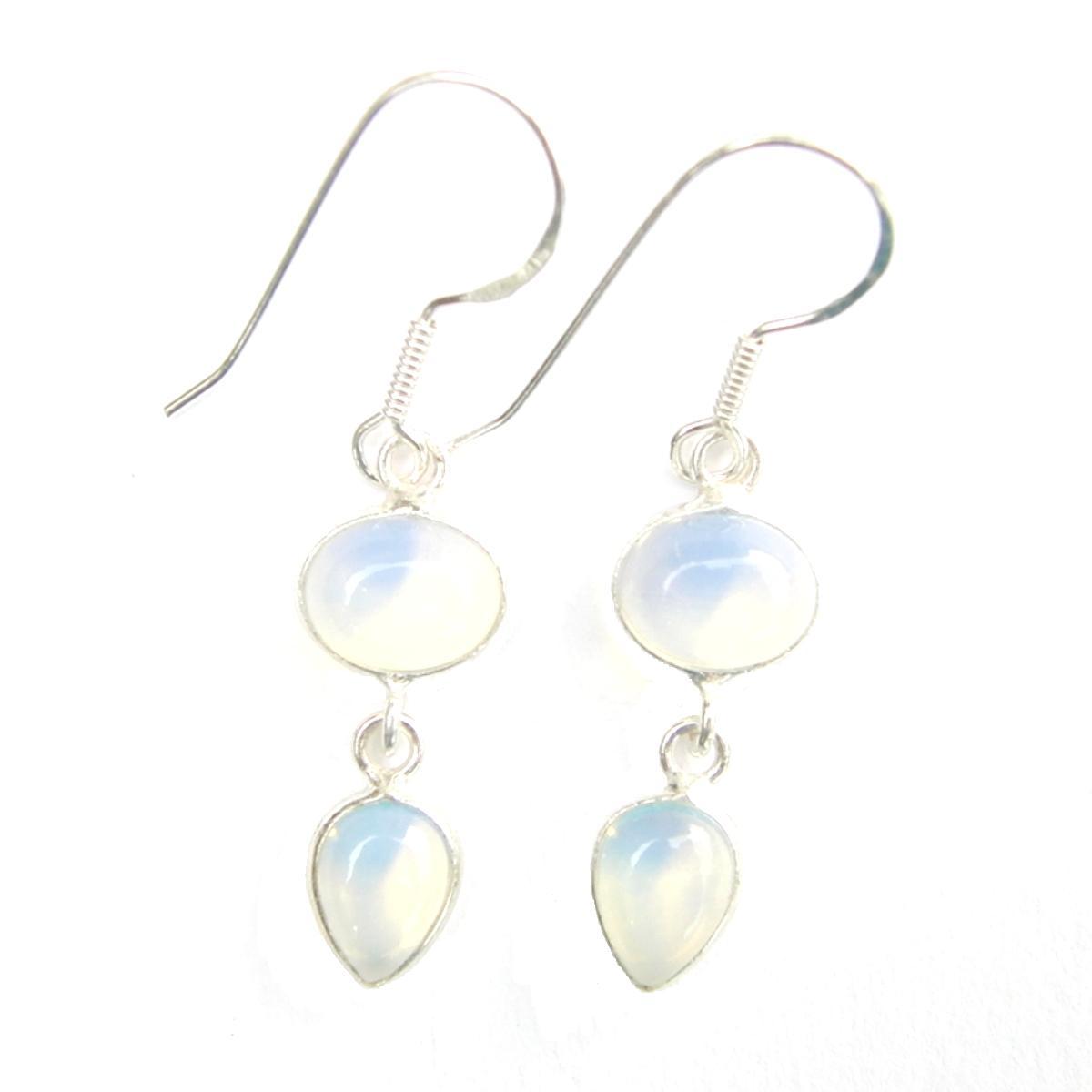 Opalite Double Drop Earrings
