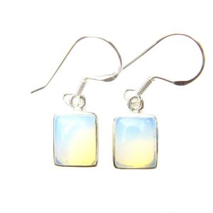 Opalite Rectangular Earrings.