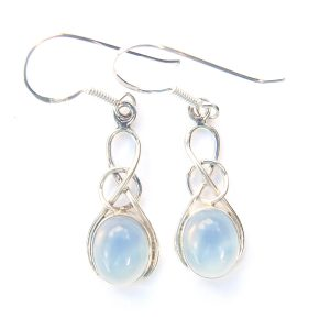 Opalite Oval Knot Earrings