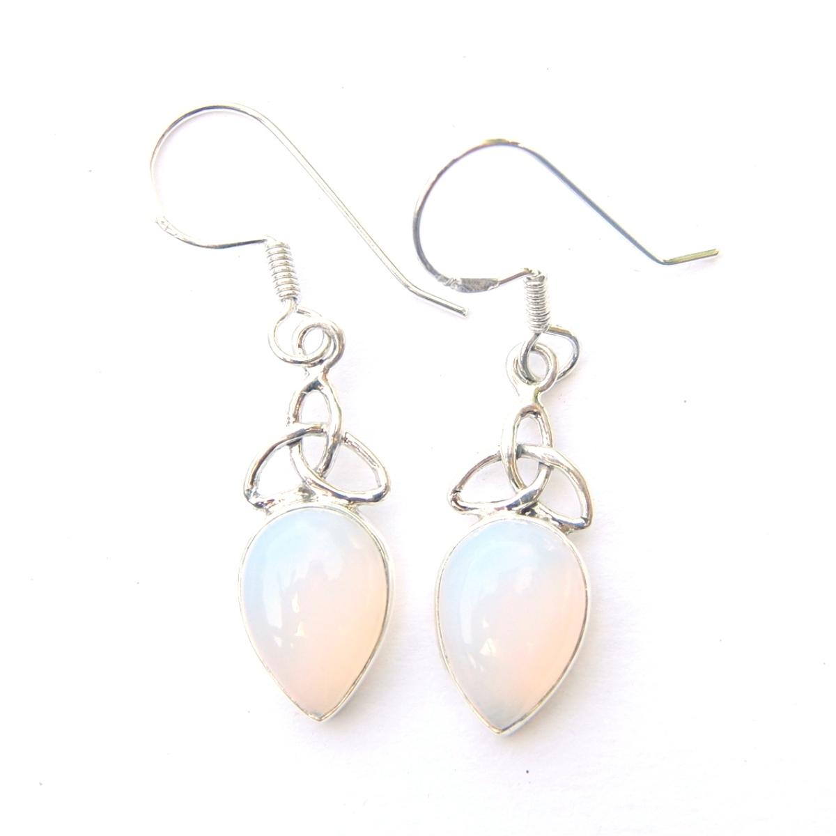 Opalite Triquetra Earrings