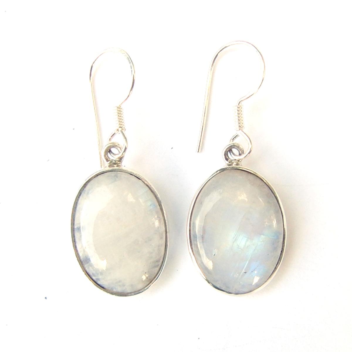 Moonstone Large Cab Earrings