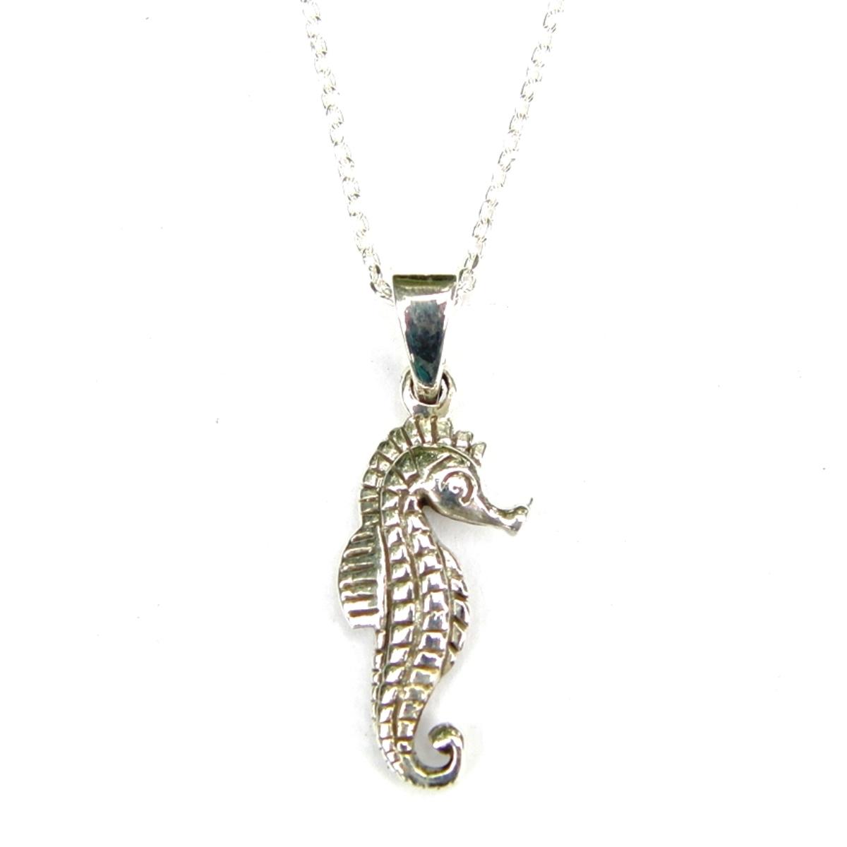 Seahorse Silver Necklace.