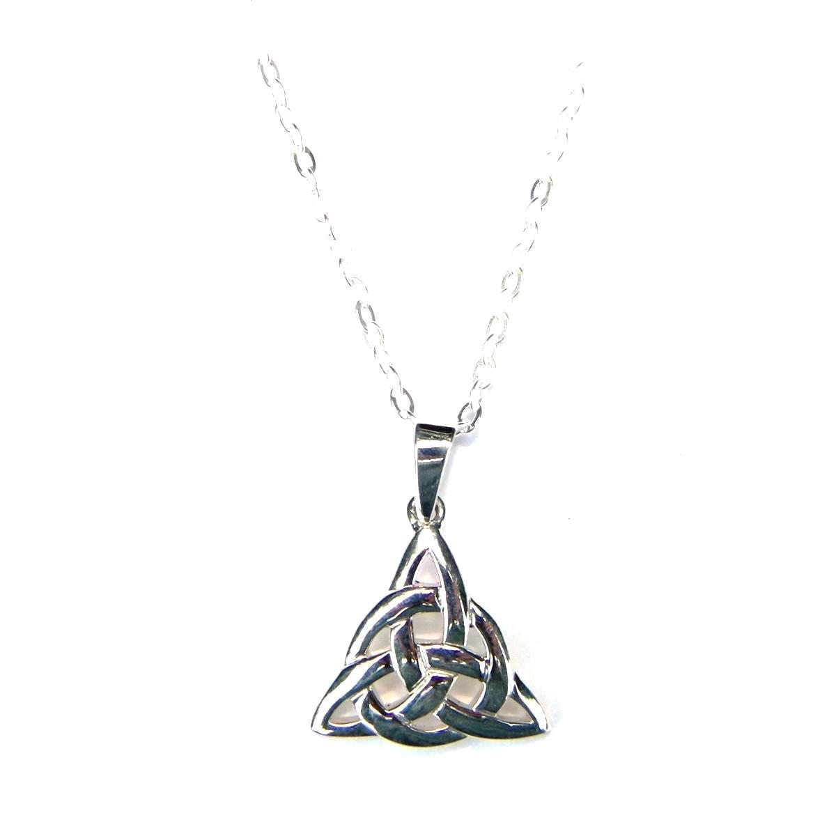 Lovely Silver Triple Triquetra Necklace.