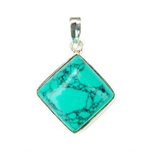 Turquoise Diamond Pendant