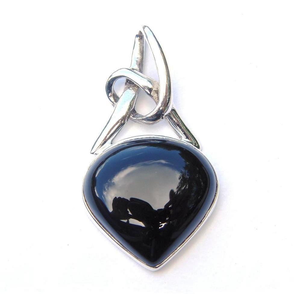 Black Onyx Knot Pendant.