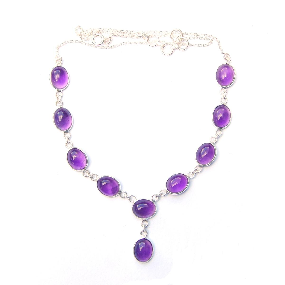 Amethyst Large Oval Necklace.